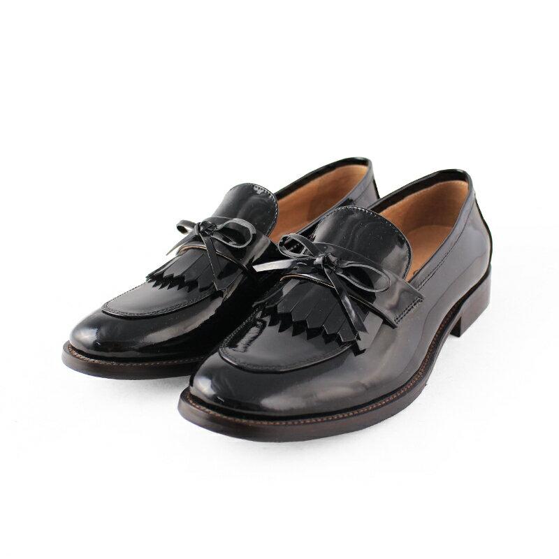 馬上出貨【F2-17912L】真皮鏡面流蘇樂福鞋_Shoes Party 5