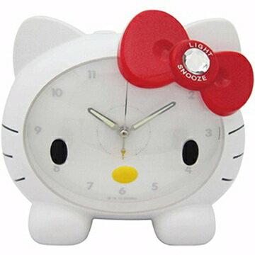 【真愛日本】14040200002 臉蛋造型LED夜燈鬧鐘-白 三麗鷗 Hello Kitty 凱蒂貓