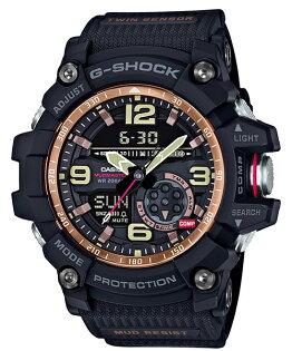 CASIOG-SHOCKGG-1000RG-1A防塵泥雙感應器強悍腕錶黑色55.3mm