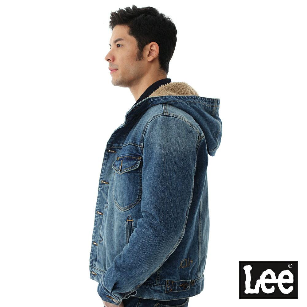 Lee 連帽牛仔外套 / 101+-男款-藍色 7