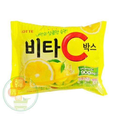 【韓購網】韓國LOTTE樂天VC檸檬糖17.5g★富含維生素C★韓國零食糖果