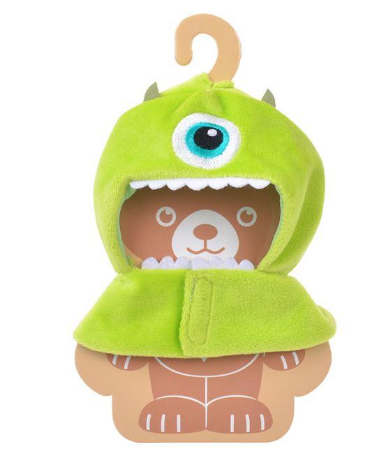 X射線【C519280】日本迪士尼代購-UniBEARsity大學熊 玩具鑰匙鍊換裝服-三眼怪,娃娃衣服/玩偶衣服/洋娃娃衣服/道具服/吊飾