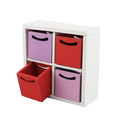 《 Nano Room 迷你家具 》NRS-009 收納盒4組