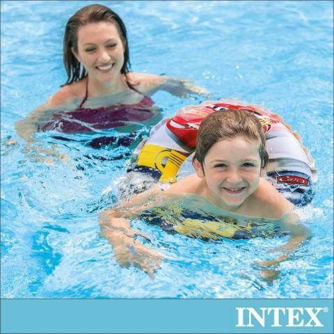 丹爸好物嚴選 【INTEX】麥坤CARS-游泳圈/ 臀圈/ 沙灘球 適用3-6歲 國家檢驗局認證檢驗合格/ 增加戲水安全性