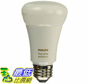 [106美国直购] 智能灯泡 Philips Hue White Ambiance A19 60W Equivalent Dimmable LED Smart Bulb