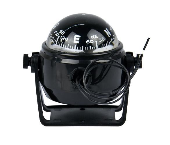 Sea Marine Electronic Digital Compass Boat Caravan Truck 12V LED Light Black 1