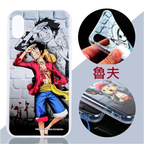 【航海王】iPhoneXS(5.8吋)城牆系列彩繪保護軟套