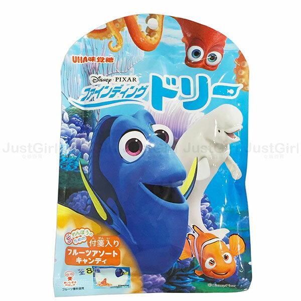 迪士尼 海底總動員 多莉尼莫 UHA味覺糖 水果糖 糖果 附便條紙 日本製造進口 * JustGirl *