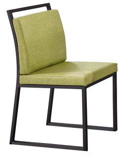 【石川家居】YE-A477-08派克黑腳亞麻皮餐椅(綠皮)(單張)(不含餐桌及其他商品)台北到高雄搭配車趟免運