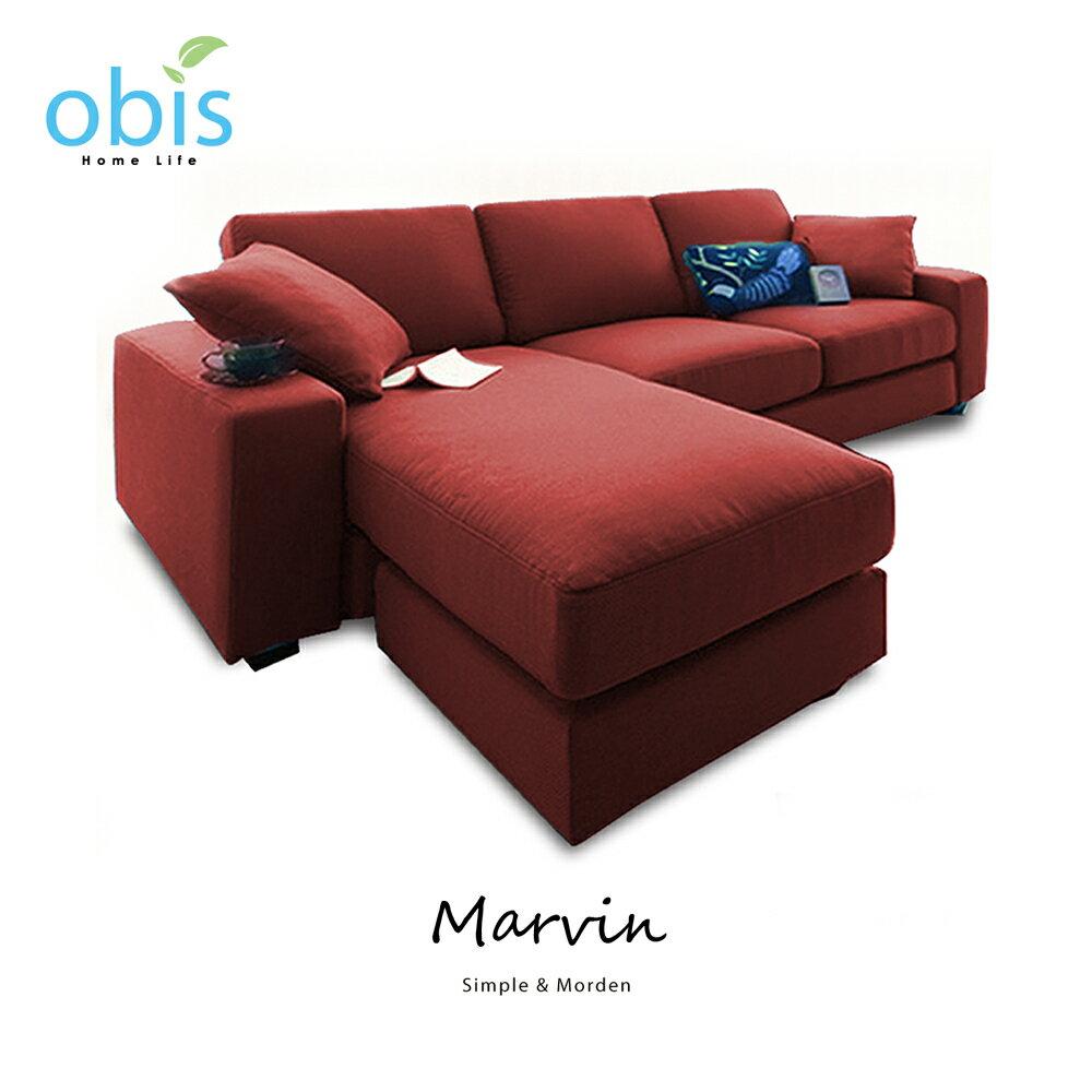 MARVIN 自然風獨立筒L型布沙發【obis】好窩生活節 1