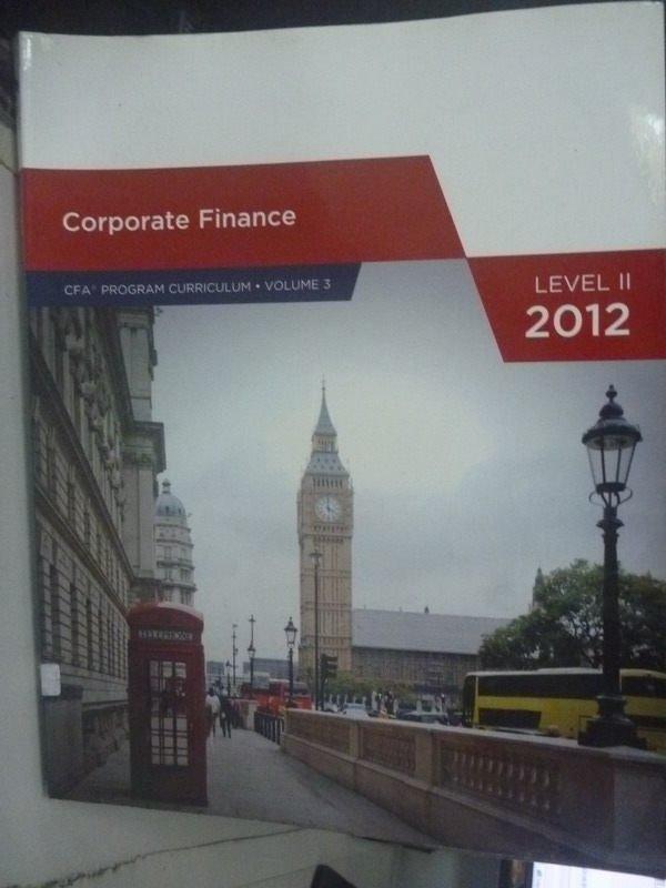 ~書寶 書T2/大學商學_QHN~Corporate Finance_CFA Instit