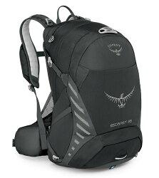 【Osprey 美國】ESCAPIST 25 單車背包 運動背包 健行背包 旅行背包 黑色〈容量25L〉 (Escapist25)