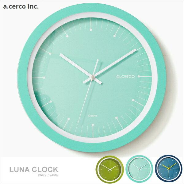 E&J【B19004】a.cerco LUNA 設計掛鐘 三色可選 簡約風/時鐘/鬧鐘/loft風/設計