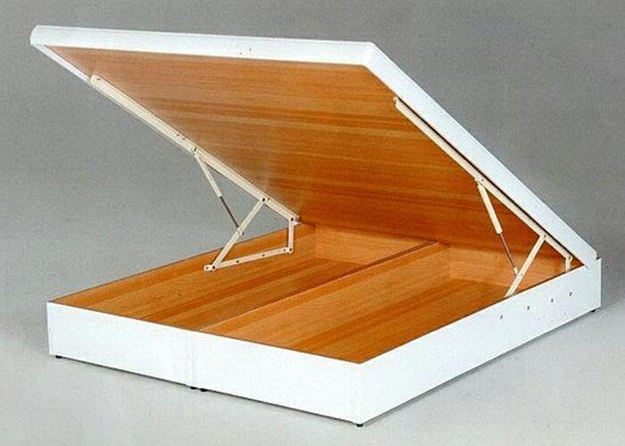 【尚品傢俱】101-13 白色雙人厚框5尺後掀/尾掀床(多安全裝置)~另有3.5尺、6尺~有6色可選