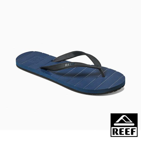 【新品上市↘】REEF素色必備基本款舒適好穿防滑耐磨男款橡膠夾腳拖人字拖鞋.深藍RF0A2YFSNAV