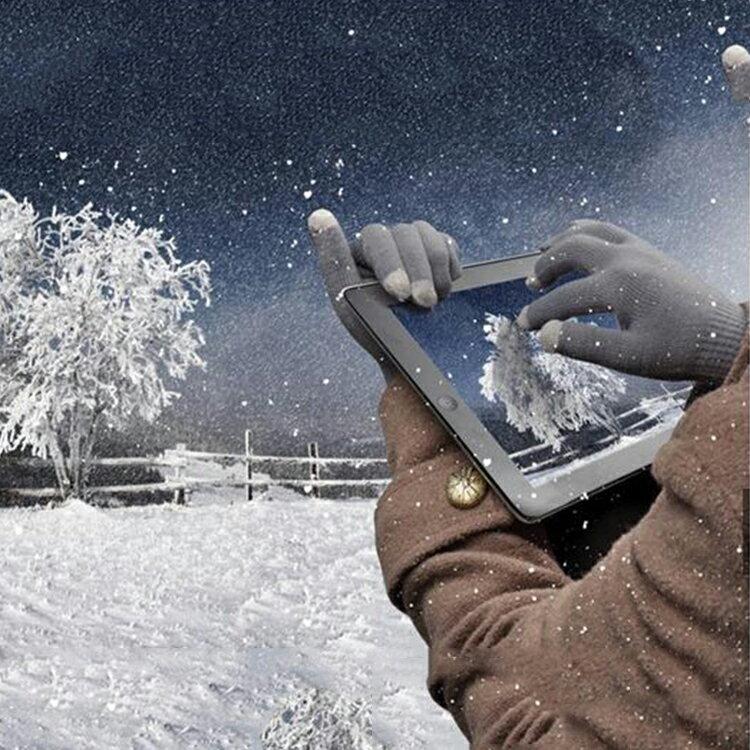 【葉子小舖】愛心花紋觸屏手套/觸控手套/可滑手機/聖誕禮物/交換禮物/防寒保暖/男女通用款