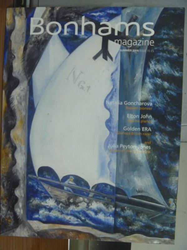 【書寶二手書T4/收藏_QMU】Bonhams magazine_2008 Summer