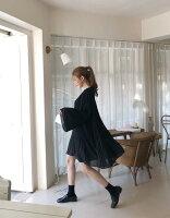 必勝顯瘦約會洋裝到【Korea正韓】現貨 拼接百褶雪紡洋裝·2色就在Double U推薦必勝顯瘦約會洋裝