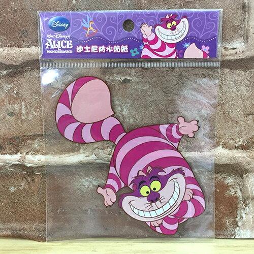 【真愛日本】 17072400004 防水貼紙L-妙妙貓 迪士尼 愛麗絲夢遊仙境 裂嘴貓 笑笑貓 行李箱裝飾貼紙