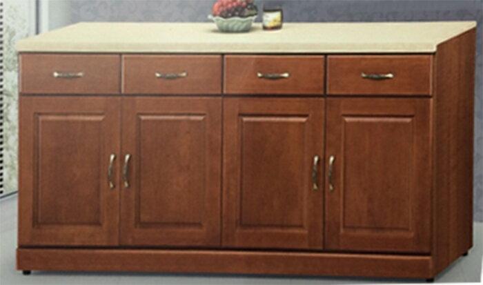 【尚品傢俱】625-23 貝倫 4尺石面樟木半實木餐櫃(另有3、5尺)廚房櫥櫃/收納櫃/Kit Cabine