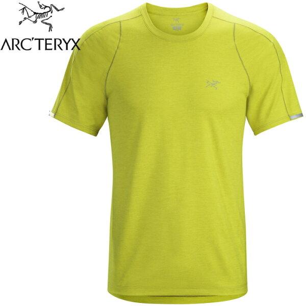 Arcteryx始祖鳥登山排汗衣排汗T恤Cormac男款短袖排汗衣15518地衣黃