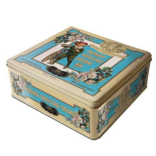 【LAZZARONI 經典義大利餅乾】AMARETTI義式傳統杏仁餅乾系列★復古藍杏仁餅乾禮盒★225g - 限時優惠好康折扣