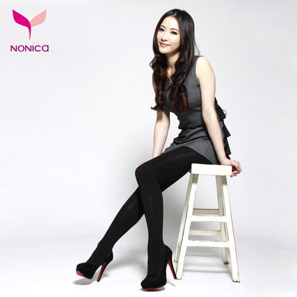 諾妮卡創意時尚館:窈窕塑美220D輕透膚塑美健康褲襪(未定型)★膚色黑色★S~XL【NoNiCa諾妮卡】