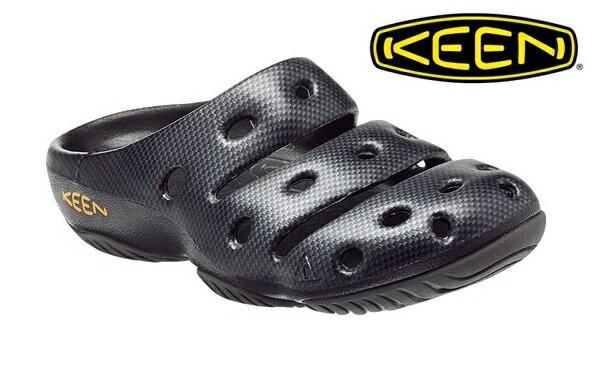 ├登山樂┤美國KEEN 男 YOGUI ARTS專業戶外護趾拖鞋/涼鞋 碳纖紋#1002036