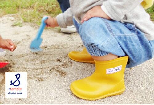 【本月贈鞋墊】日本【Stample】兒童雨鞋(布丁黃) 1