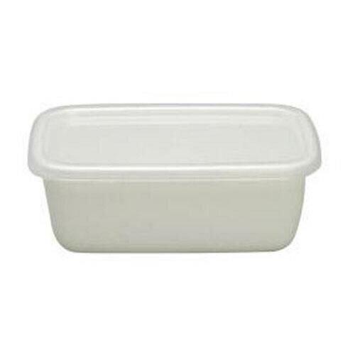 野田琺瑯 /  長方深型琺瑯收納盒透明EVA樹脂上蓋 1