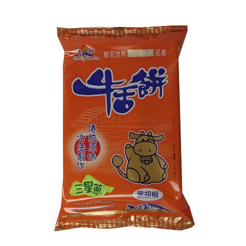 宜蘭台灣鄉親三星蔥牛舌餅-黑胡椒口味170g【愛買】