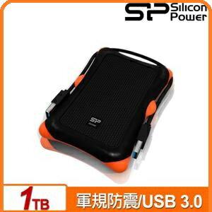 SP廣穎ArmorA301TB黑白兩色2.5吋軍規防震行動硬碟