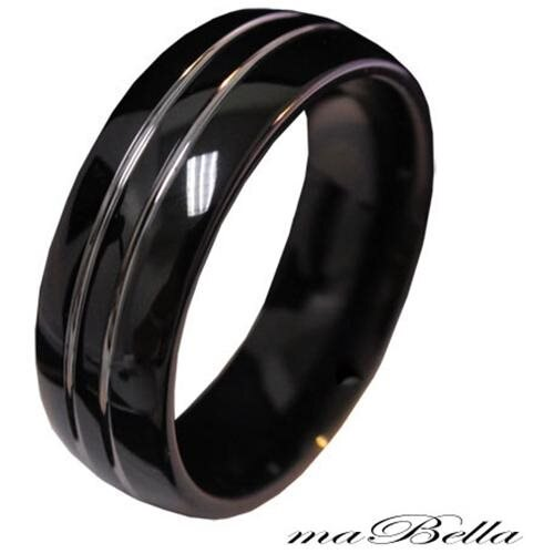 Durable Men 8MM Tungsten 2 Silver Strip Wedding Band Ring