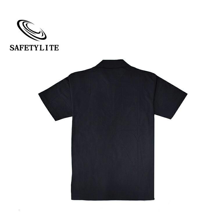 素面黑立領PK透氣彈性短袖POLO衫 Safetylite