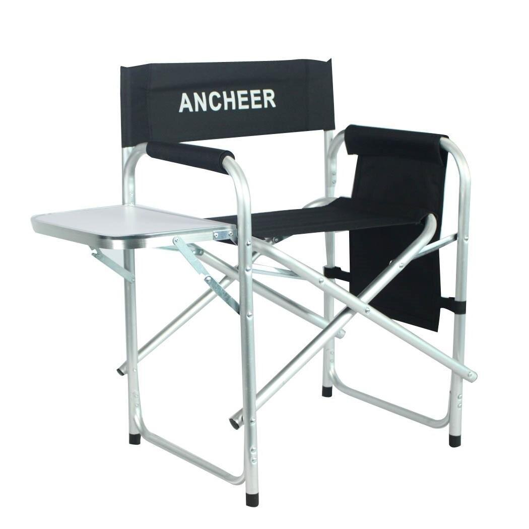 Portable Folding Director Chair with Side Table 1