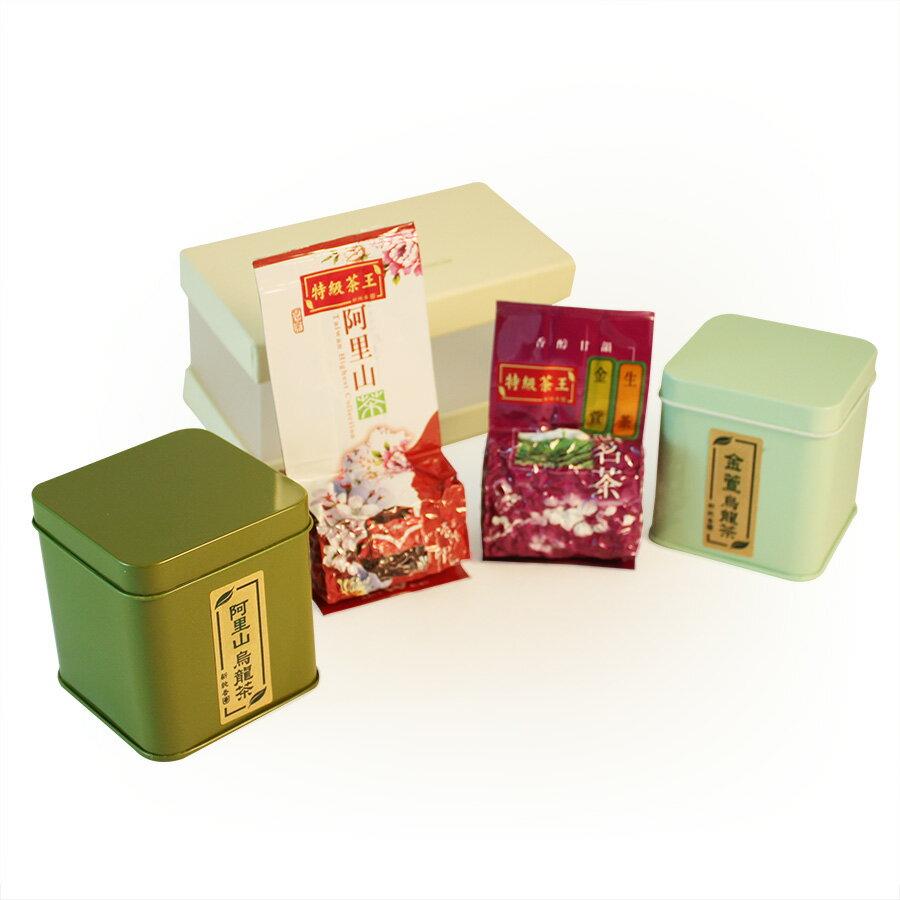 高山茶系列-經典四方罐雙入禮盒 1