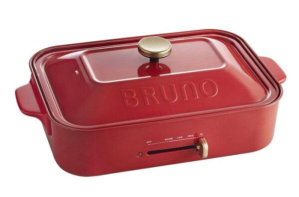 現貨紅色*刷卡價*日本多功能電烤盤Brunoboe021BRUNOBOE021鑄鐵生鐵鍋無煙燒烤盤鐵板燒章魚燒環保多色可選母親節禮物