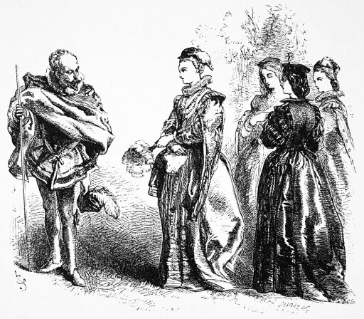 LoveS LabourS Lost Nthe Princess Of France And Her Three Ladies (Act Ii Scene I) From William ShakespeareS LoveS LabourS Lost Wood Engraving 1881 After Sir John Gilbert Poster Print by (18 x 24) fd8afe9daba853129bf24c8319af36b8