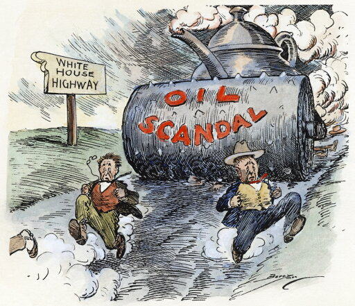 Cartoon Teapot Dome 1924 Namerican Cartoon Showing Washington Officials Racing Down An Oil Slicked Road To The White House Trying Desperately To Outpace The Teapot Dome Scandal Cartoon By Clifford K Berryman 1924 Poster Print by (24 x 36)