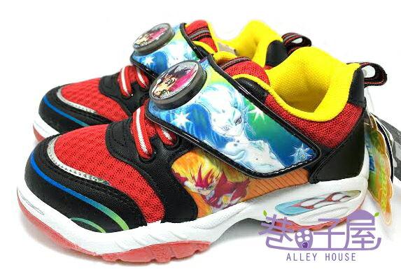 【巷子屋】遊戲王男童造型電燈運動休閒鞋 [44912] 紅 MIT台灣製造 超值價$198