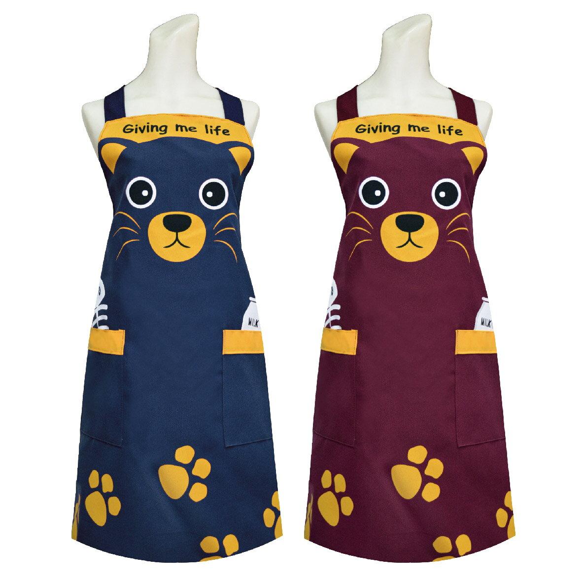 可愛貓頭圍裙 TT520餐飲業 保母 幼兒園 廚房 咖啡店 活動制服圍裙