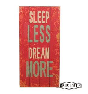 純真年代Opus Loft:SLEEP仿舊文字裝飾版畫