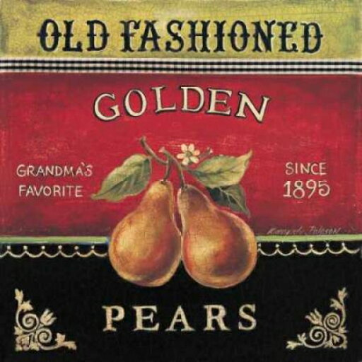Golden Pears Poster Print by Kimberly Poloson (12 x 12) c20e2a48b17a9e61a59426607d147918