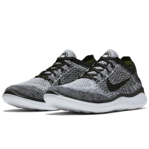 Nike Free RN Flyknit 2018 男鞋 慢跑 休閒 編織 透氣 灰黑 【運動世界】942838-101