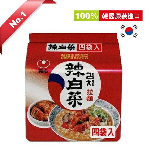 韓國農心辣白菜拉麵*4包【愛買】