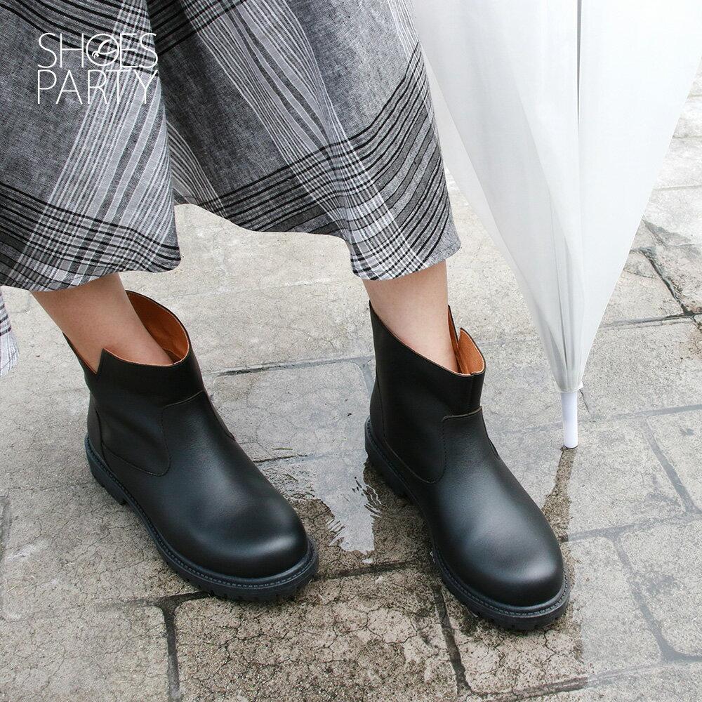 【B2-19320L】真皮防水短靴_Shoes Party 2