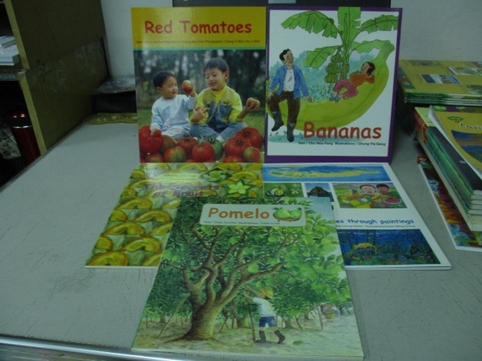 ~書寶 書T2/語言學習_QEC~Red Tomatoes_Bananas等_5本合售_附