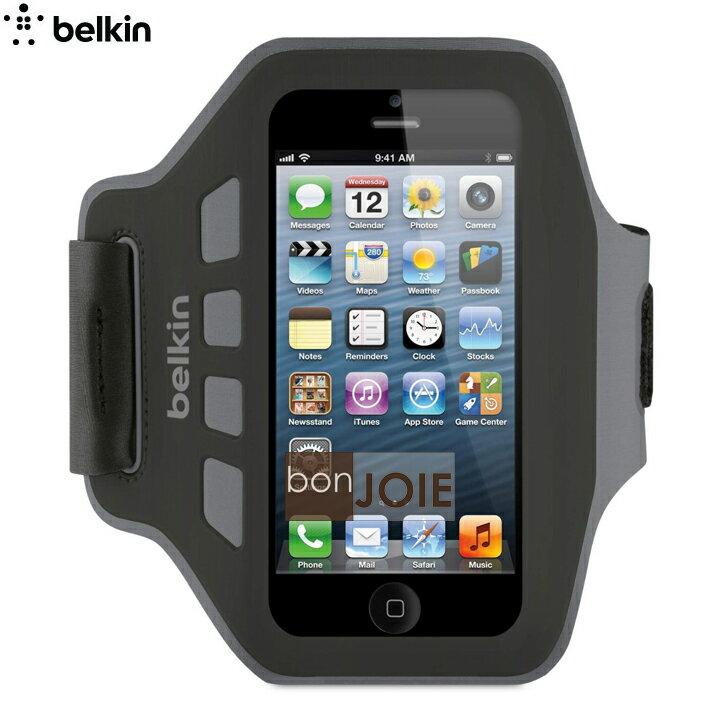::bonJOIE:: 美國貝爾金 Belkin EaseFit 運動臂套 (黑色) 臂帶 (全新盒裝) For iPhone 5 , 5S ,5c 彈性手臂套 手機袋