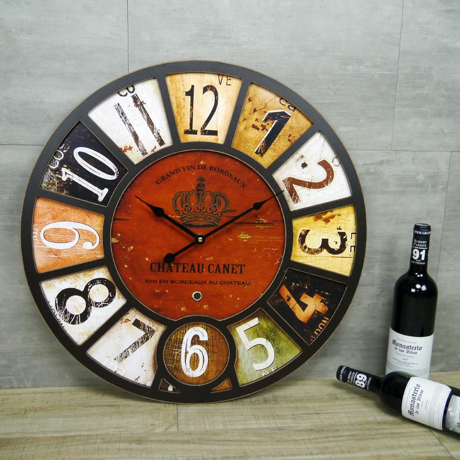 LOFT 工業風 立體 時鐘 大尺寸 木質 掛鐘 復古 流行 歐式 宮廷 皇冠造型 靜音掛鐘 牆面裝飾 時鐘