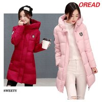 保暖推薦女羽絨外套推薦到韓版時尚羽絨棉服中長款修身加厚外套(6色M~3XL)【OREAD】就在OREAD-自由風格推薦保暖推薦女羽絨外套